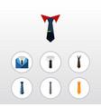 flat icon necktie set of cravat suit tie and vector image vector image
