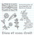 floral symbols of United Kingdom vector image