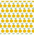 fresh citrus fruit orange decoration textile vector image