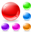 glossy spheres vector image vector image