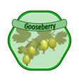 gooseberry label vector image vector image