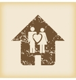 Grungy family house icon vector image vector image
