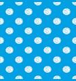 half of nutmeg pattern seamless blue vector image vector image