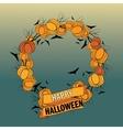 Halloween wreath 5 vector image vector image