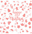 hygge christmas brush calligraphy vector image vector image