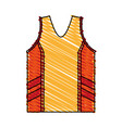 isolated basketball shirt design vector image