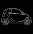 linear mini car isolated minicar on dark vector image vector image