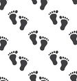 man footprints seamless pattern vector image