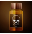 Medicine bottle with poisonous liquid vector image