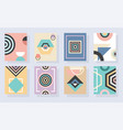 modern abstract and geometrical frames set vector image
