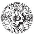 modern french rosette is a ceiling flower made of vector image vector image