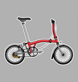 modern tri fold city folding bike in flat style vector image vector image