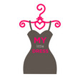 my little dress boutique with clothes isolated vector image vector image