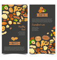 nut food for shop poster or market banner vector image vector image