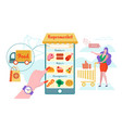 online supermarket home delivery flat vector image vector image