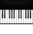 piano key keyboard instrument musical flat vector image vector image