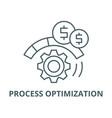 process optimization line icon linear vector image vector image