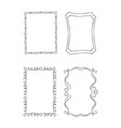 rectangular hand drawn ornate frames set vector image