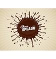round chocolate splash vector image vector image