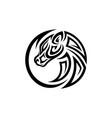 round head horse tribal vector image
