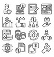 royalty program icons set on white background vector image vector image