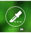Scalpel Icon on Square Black Internet Button vector image