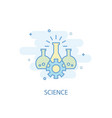 science line concept simple line icon colored vector image