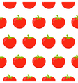 Seamless pattern with red tomatoes vector image vector image