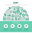 security and protection in half circle concept vector image vector image