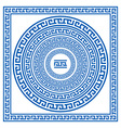 Set collections of greek style ornaments Oval vector image vector image