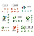 Set of company logotype branding designs flower vector image vector image