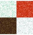 set of seamless snowmen patterns vector image