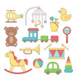 set toys and accessories for baby colorful