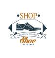 shoe shop premium quality estd 1963 vintage vector image vector image