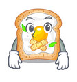 silent sandwich with egg isolated in mascot vector image