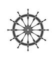 simple ship steering wheel vector image vector image