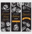 sketch bakery vintag card vector image vector image