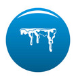 snowdrift icon blue vector image