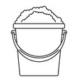 soap foam bucket icon outline style vector image