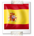 spain flag on square paper vector image vector image