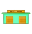 Taxi station icon cartoon style vector image vector image
