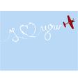 Valentine plane vector image