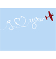 Valentine plane vector image vector image