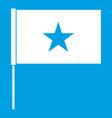 vietnam flag icon white vector image vector image