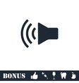 Volume icon flat vector image vector image