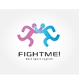 Abstract two boxing logo icon concept Logotype vector image