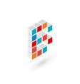 3d cube letter B logo icon design template vector image