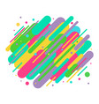 abstract colored rounded shapes lines in diagonal vector image