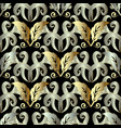 abstract floral gold 3d baroque seamless pattern vector image vector image