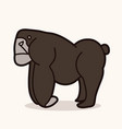 angry gorilla standing vector image vector image